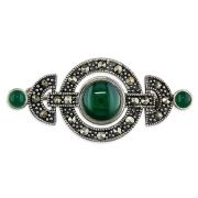 Sterling Silver Art Deco style Marcasite Brooch